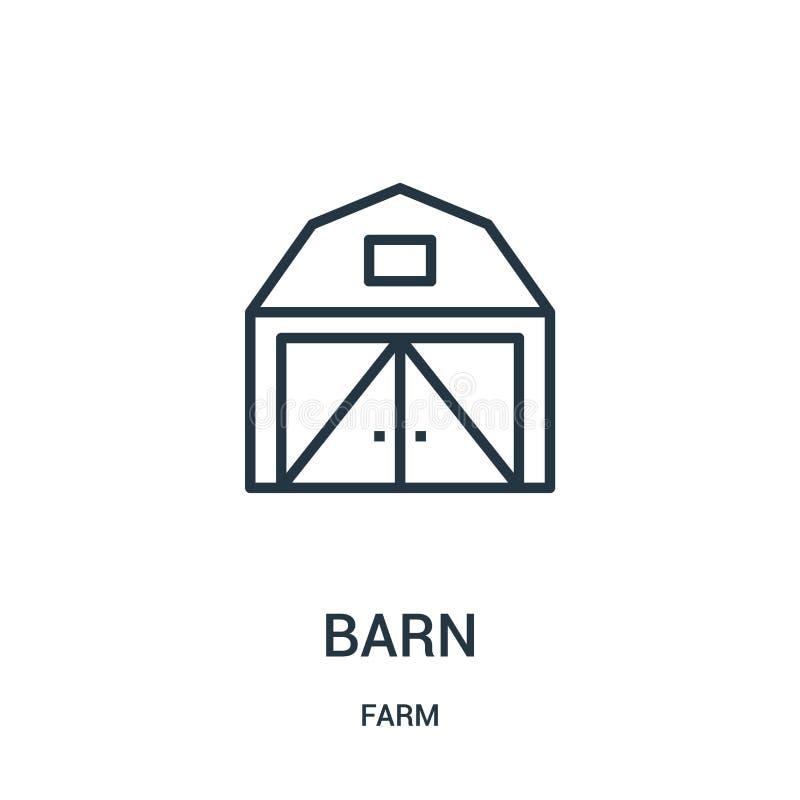 stajni ikony wektor od rolnej kolekcji Cienka kreskowa stajnia konturu ikony wektoru ilustracja Liniowy symbol dla używa na sieci ilustracji