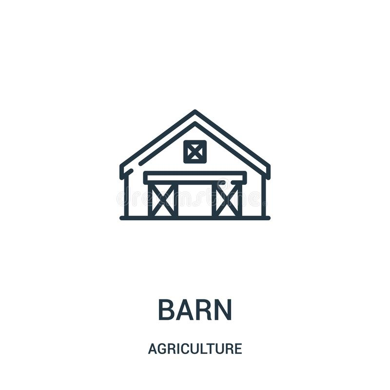 stajni ikony wektor od rolnictwo kolekcji Cienka kreskowa stajnia konturu ikony wektoru ilustracja Liniowy symbol dla używa na si ilustracja wektor