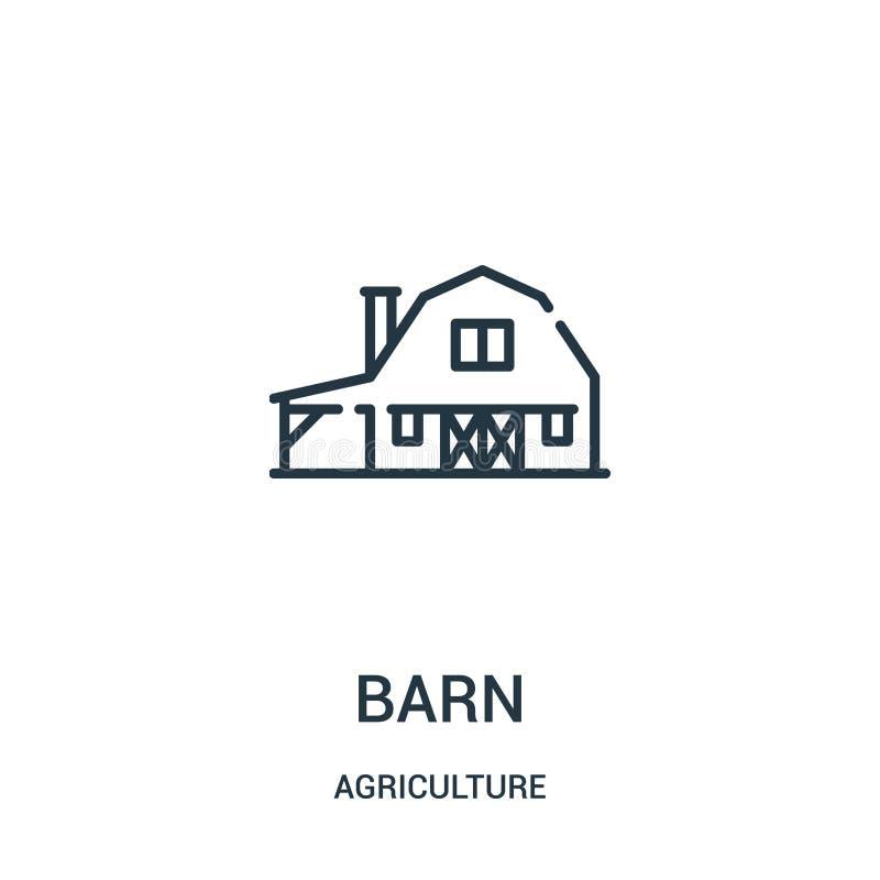 stajni ikony wektor od rolnictwo kolekcji Cienka kreskowa stajnia konturu ikony wektoru ilustracja Liniowy symbol dla używa na si ilustracji