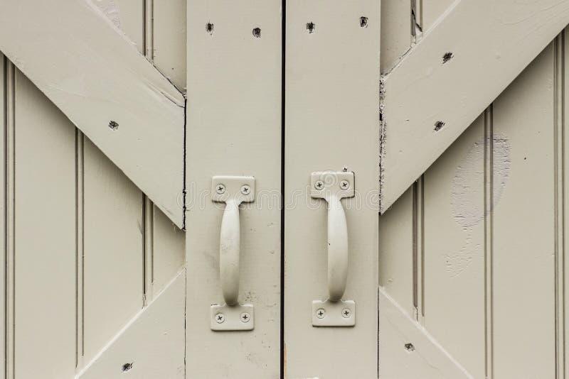 Stajni rękojeści i drzwi obrazy royalty free
