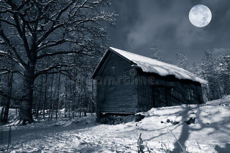 stajni zima stara śnieżna zdjęcie royalty free
