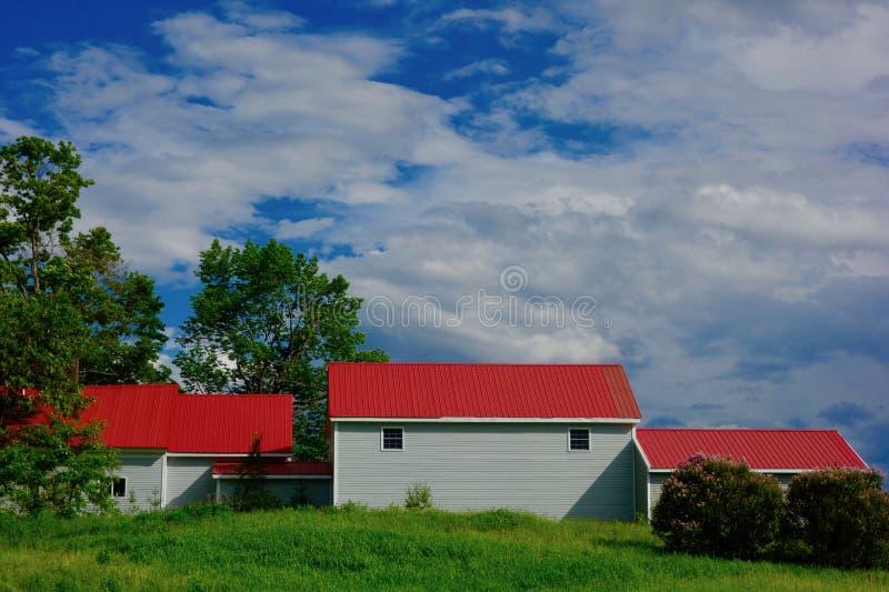 Stajnia kompleks z czerwonymi dachami obrazy royalty free