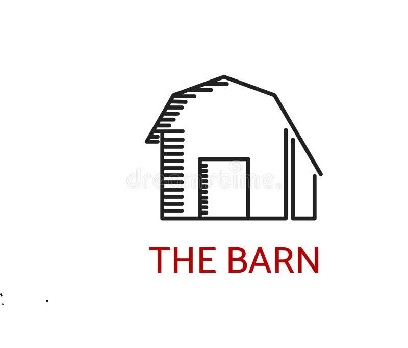 Stajnia logo prosty wizerunek ilustracji