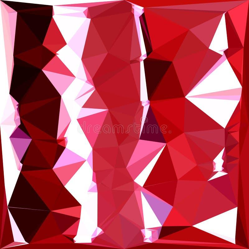 Stajnia wieloboka Czerwony Abstrakcjonistyczny Niski tło ilustracja wektor