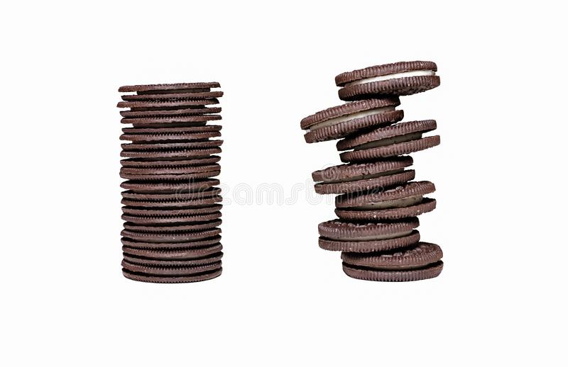 Staked Oreo Cookies Tower stock photography
