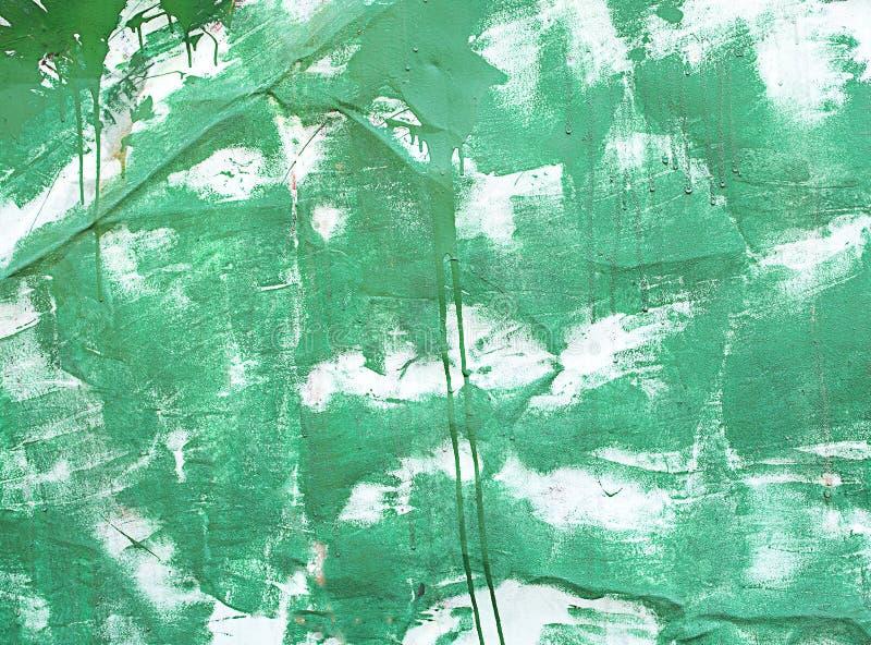 Staket för metall för bakgrundstexturturkos vit målat royaltyfri fotografi
