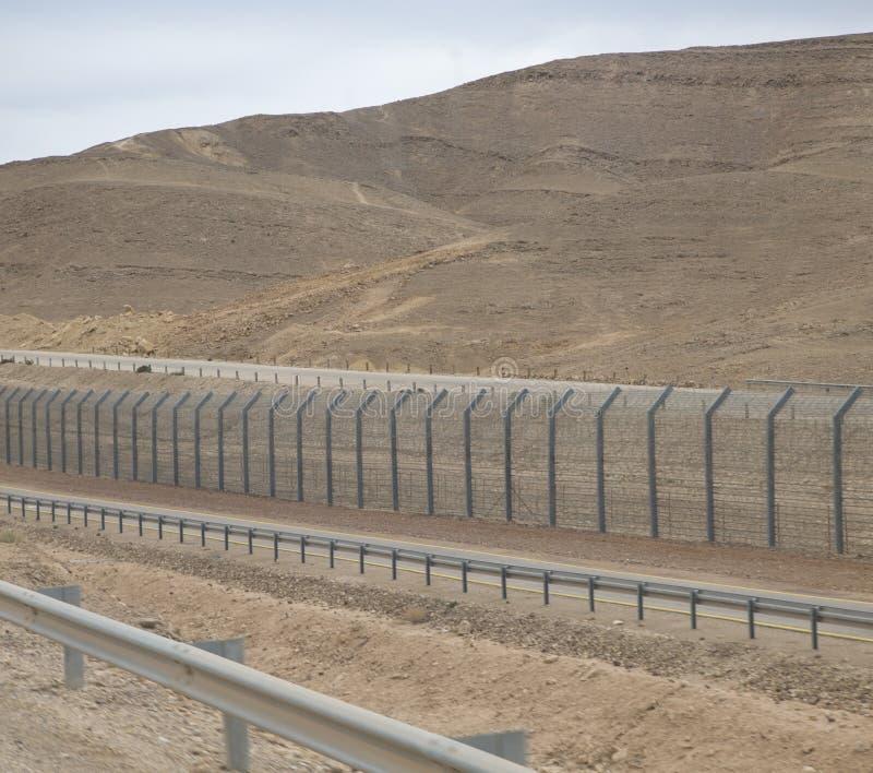 Staket i Israel för skydd av landet arkivbild