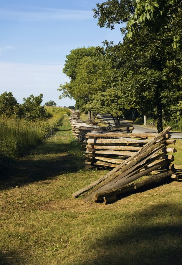 staketgettysburg linje pennsylvania stångsplit royaltyfri foto