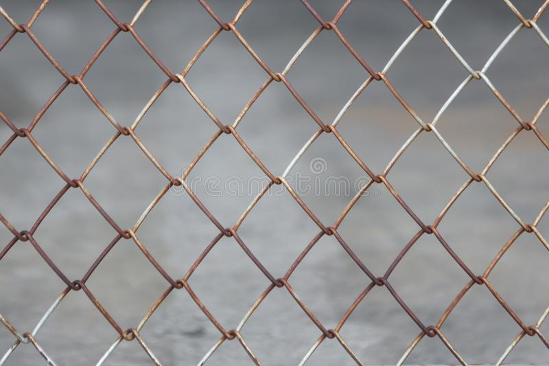 Staketskyddsgallerrost fotografering för bildbyråer