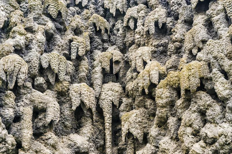 The Stalactite Wall in Prague, Czech Republic.  royalty free stock photography