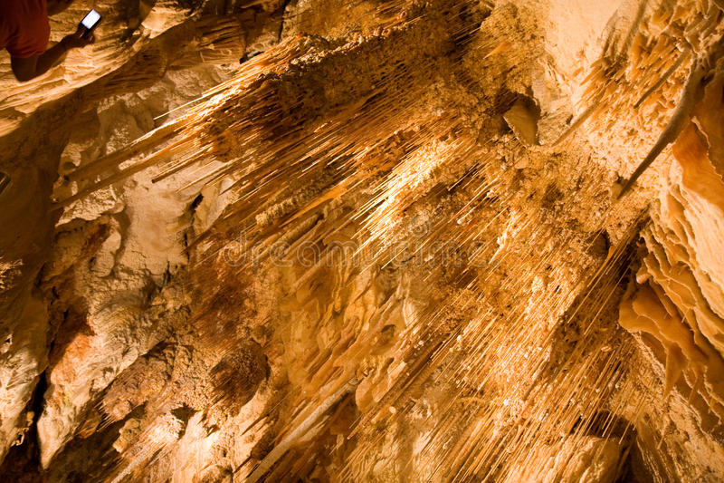 stalagmites stalactites Бермудских островов стоковые изображения rf