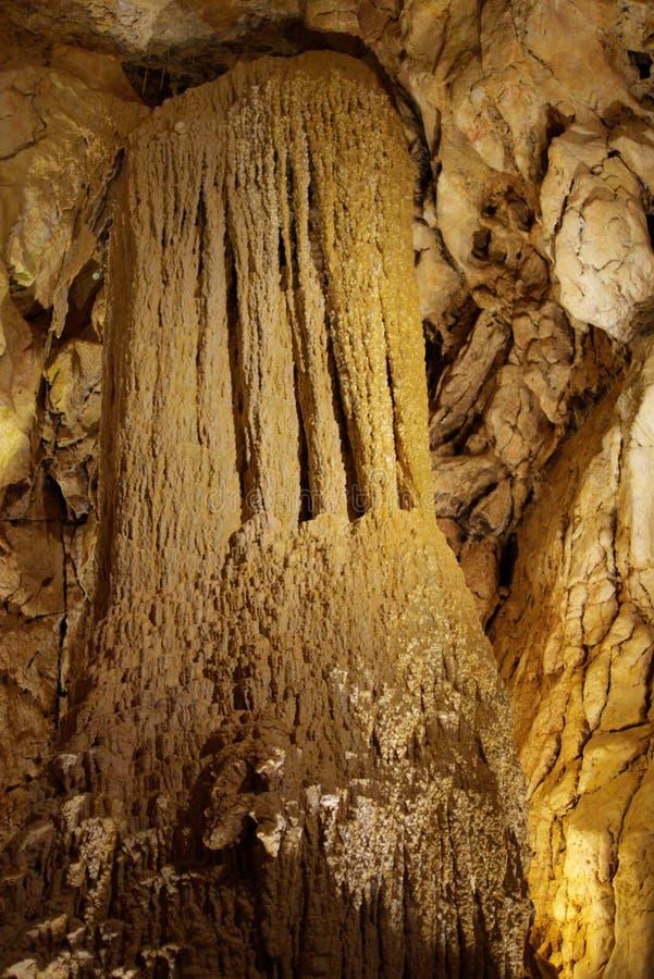 stalagmits grotto стоковое фото