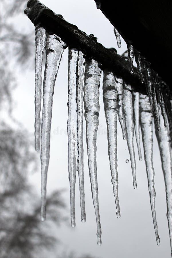 Stalaktiten des Eises lizenzfreies stockfoto