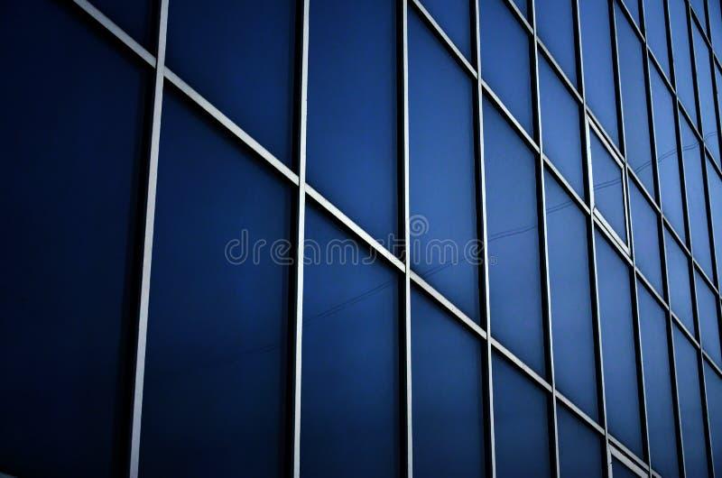 Stali błękitni okno budynek biurowy Szklana ściana obrazy stock