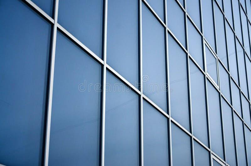 Stali błękitni okno budynek biurowy Szklana ściana fotografia stock