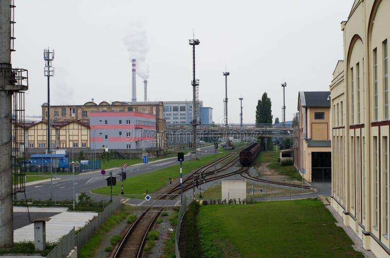 Stali i ciężkiego metalu przemysłu fabryka Skoda w Pilsen, republika czech fotografia stock