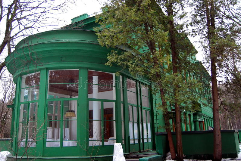 """Stalin's dacha in Moscow, Kuntsevo. (photo â""""–2). Stalin's dacha in our time stock photos"""