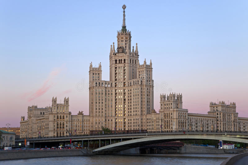 Stalin's Empire style building. royalty free stock image