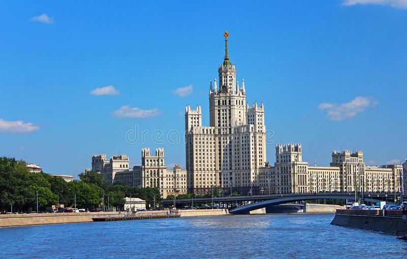 Stalin's Empire style building royalty free stock image