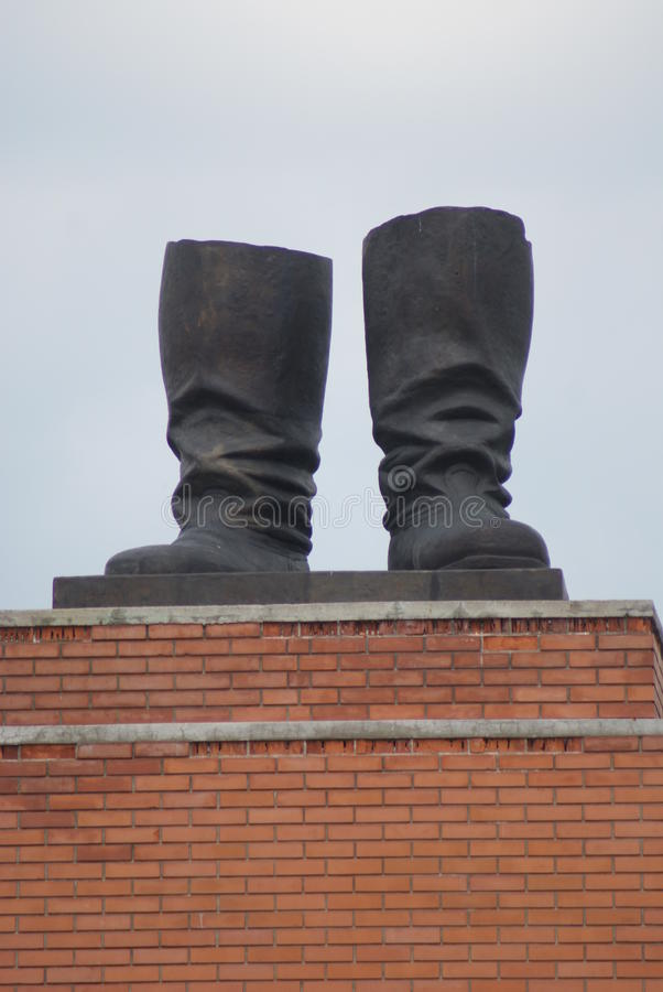 Stalin's Grandstand - Communist Monument - Memento Park - Budapest. The remaining part of the huge Stalin monument (Stalin's Grandstand) - Communist Monument royalty free stock photo