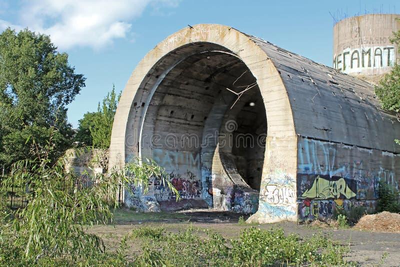 stalin stary tunel Część Kyiv obrony linia w WW2 czasie Dzisiaj wymieniający ` beton podwodny `, Kyiv zdjęcie royalty free