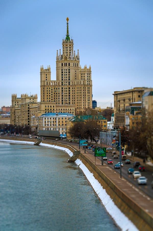 Stalinskie Vysotki в Москве стоковые изображения rf