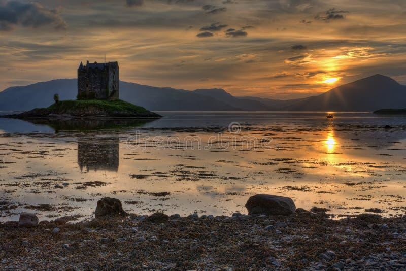 Stalker Castle. In Scotland, Highlands royalty free stock images