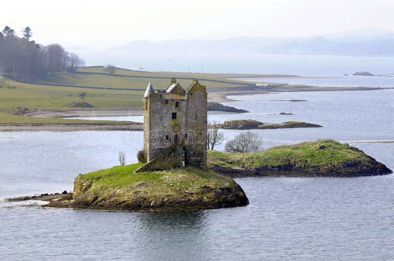 Stalker castle. Ruins of Stalker Castle in Scotland royalty free stock image