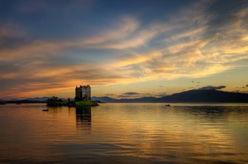 Stalker Castle evening. Stalker Castle in evening light, Highlands, Scotland stock photos