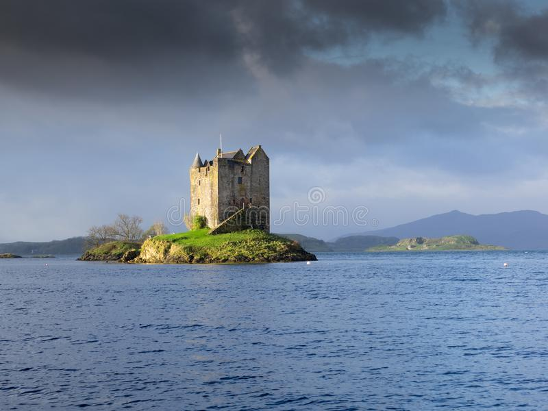 Stalker Castle in morning light, Highlands, Scotland. Stalker Castle in morning light, Highlands royalty free stock images