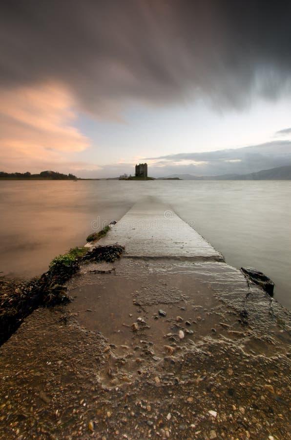 Stalker Castle Scotland Highlands stock photos