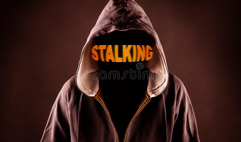 Stalker. Picture of a stalker concept royalty free stock photos