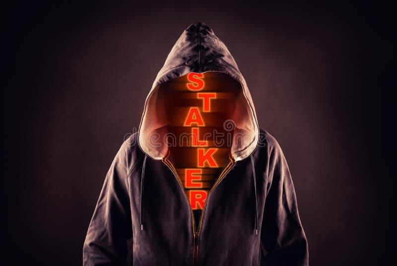 Stalker. Picture of a stalker concept stock image