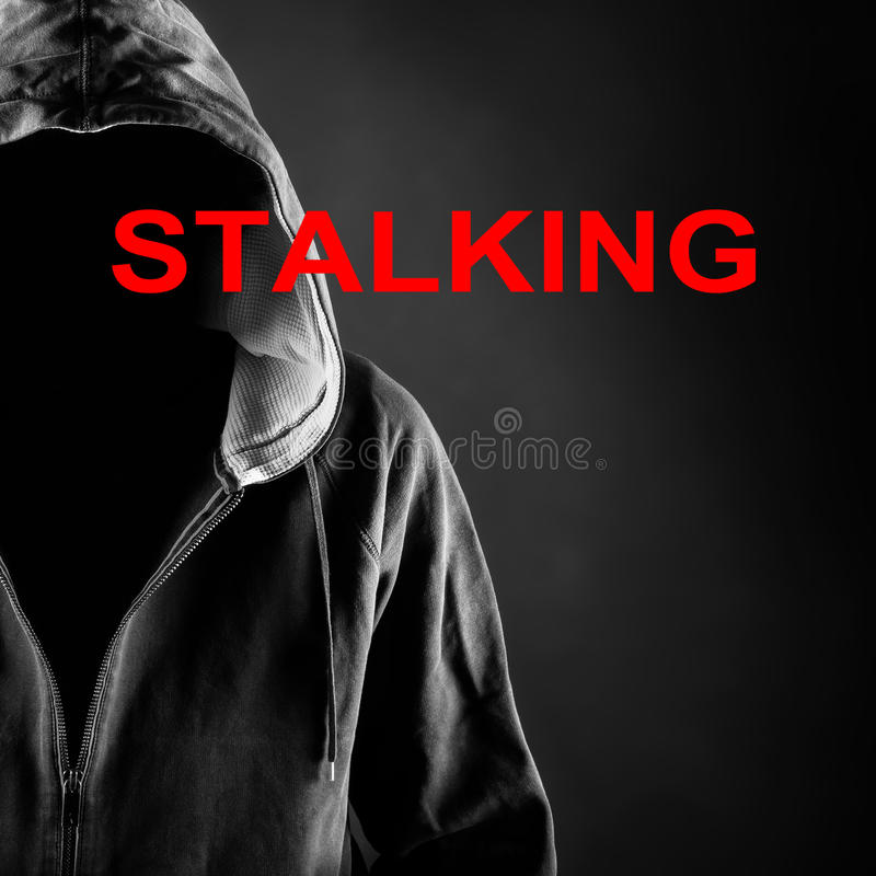 Stalker. Picture of a stalker concept stock photos