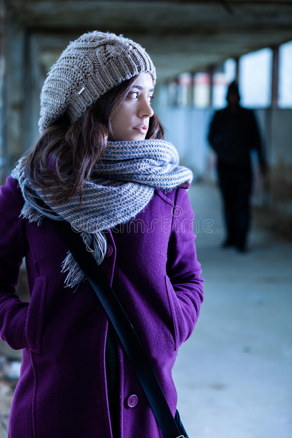Download Stalking stock photo. Image of coat, purple, corridor - 28478644