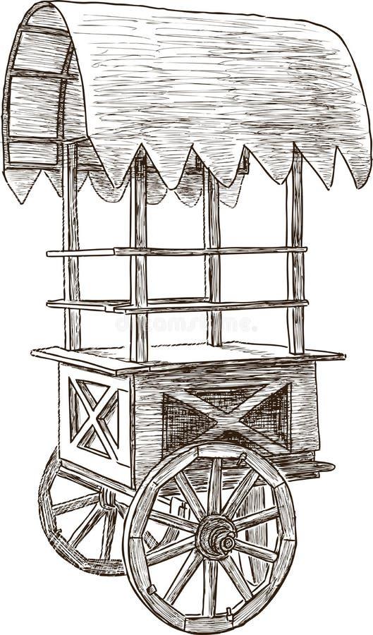 Stall auf Rädern vektor abbildung