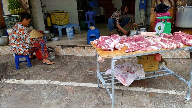 Stall för bullechamat i Hanoi royaltyfri foto