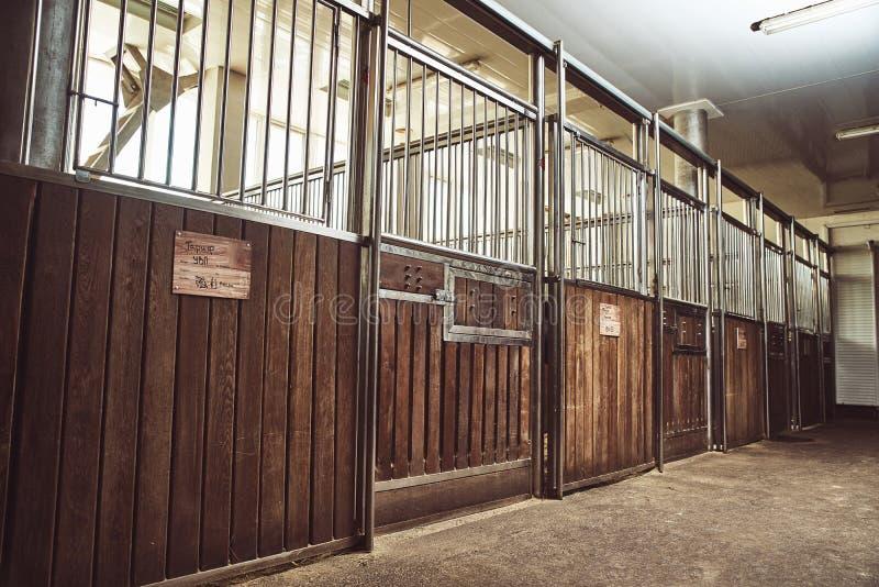 Stall för rid- ranch för hästpaddock tävlings- royaltyfri fotografi