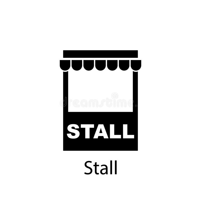 Stall icon. Signs and symbols can be used for web, logo, mobile app, UI, UX royalty free illustration