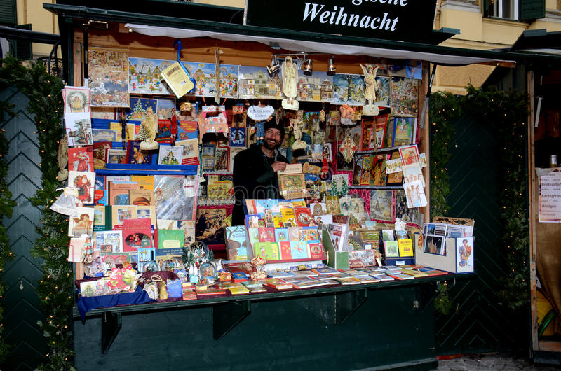 Stalla del mercato di Natale, Vienna immagini stock libere da diritti