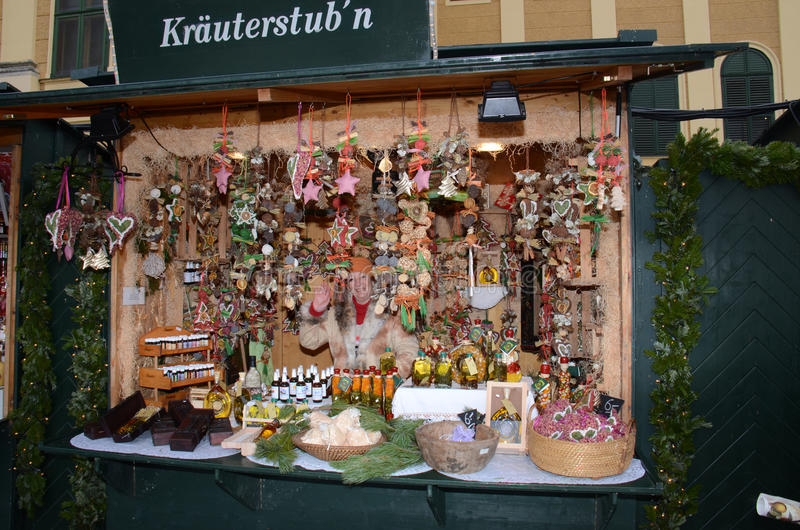 Stalla del mercato di Natale, Vienna fotografia stock libera da diritti