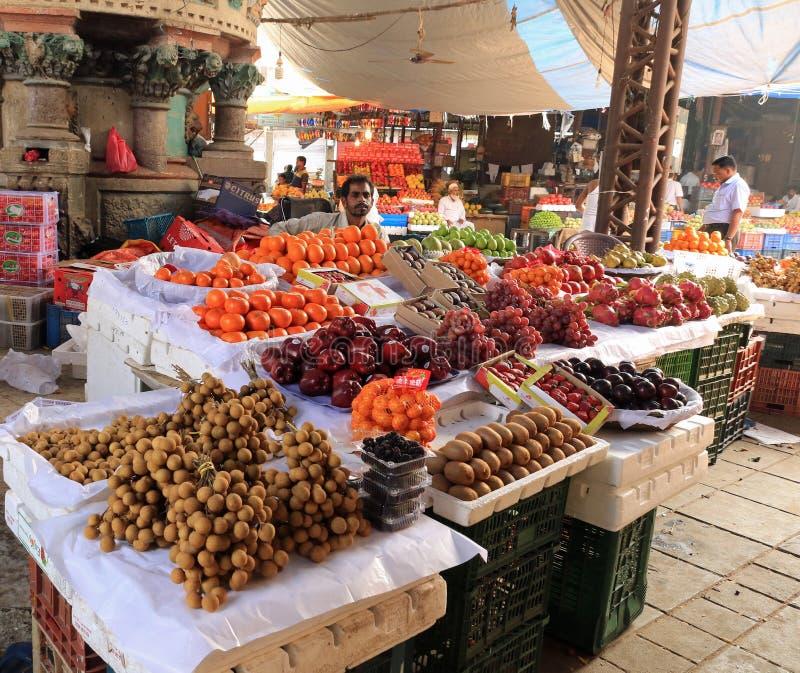 Stalla della frutta in Crawford Market fotografia stock libera da diritti