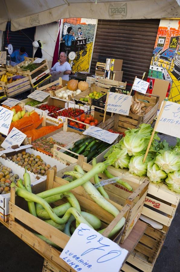 Stalla di vendite, Sicilia fotografia stock