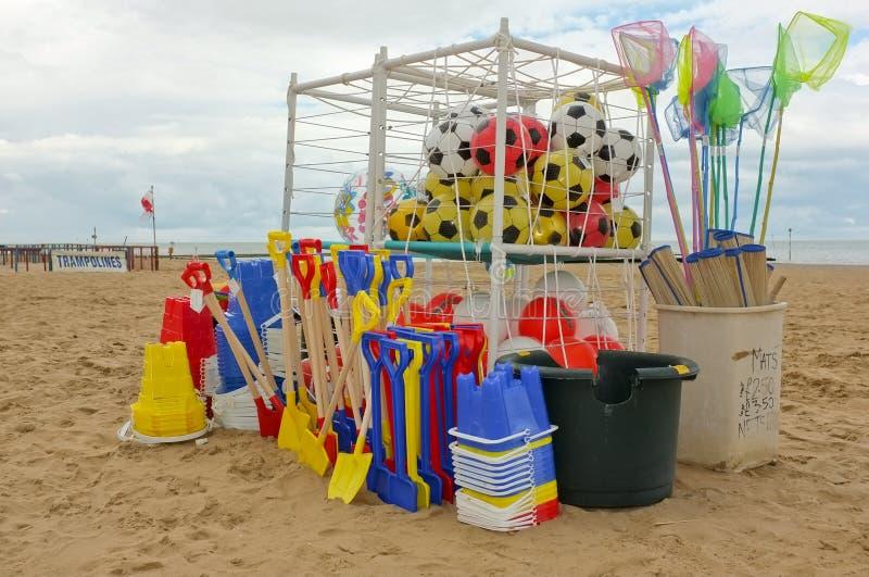 Stalla inglese della benna & della forcella della spiaggia immagini stock