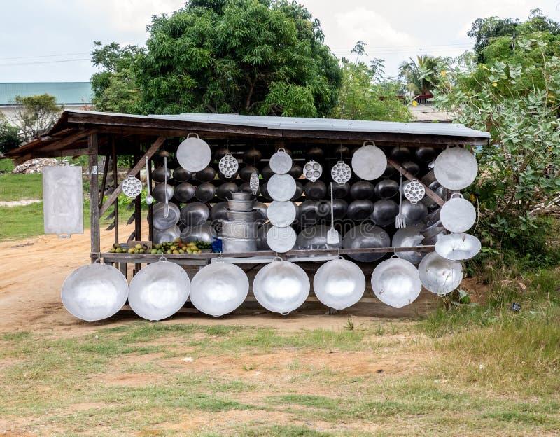 Stalle de casserole au Surinam images stock