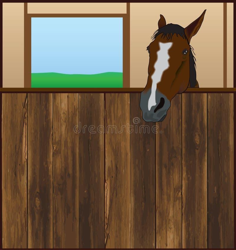 Stalle de cheval illustration de vecteur