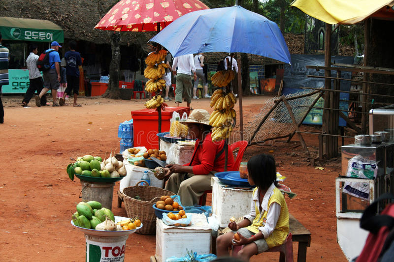 Stalle de fruit d'Angkor photos libres de droits