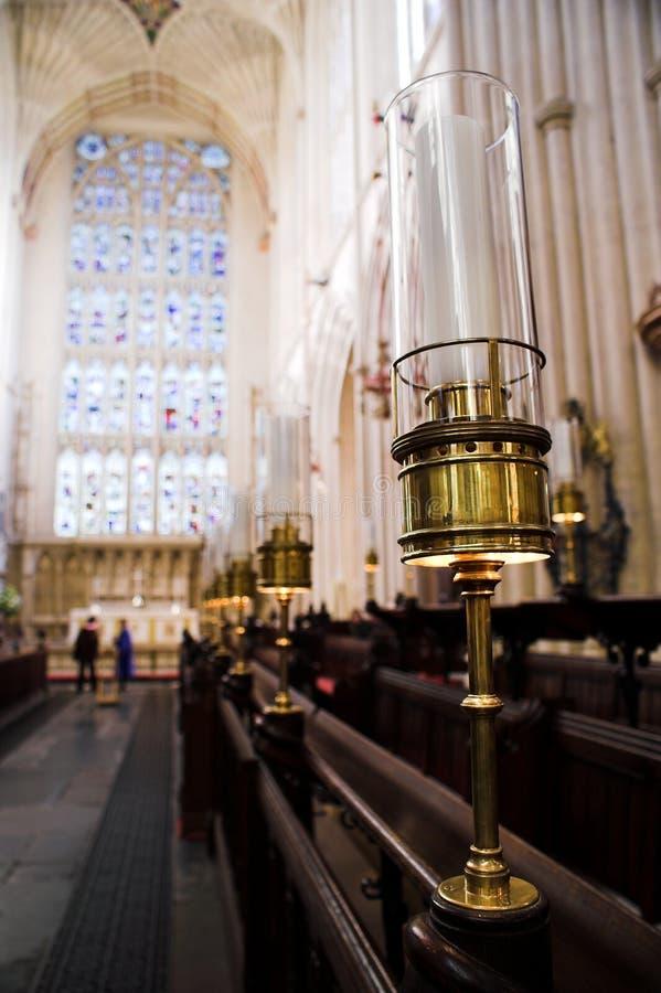 Stalle del coro dell'abbazia del bagno fotografia stock libera da diritti