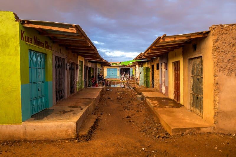Stalle du marché dans Taveta, Kenya photos libres de droits