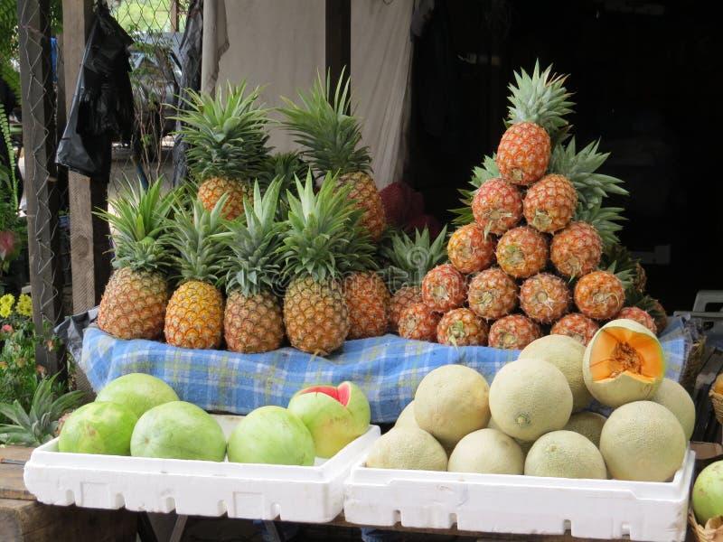 Stalle du marché de l'Antigua photographie stock